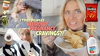 I ate people's WEIRDEST pregnancy food cravings!!