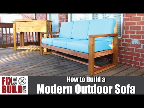 DIY Modern Outdoor Sofa | How to Build
