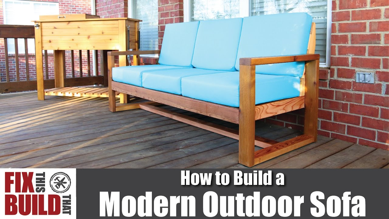 Diy Modern Outdoor Sofa How To Build