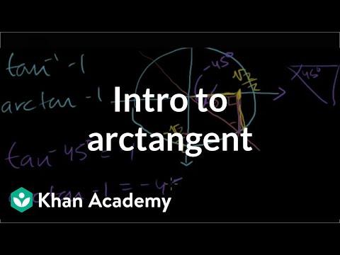 Inverse trig functions: arctan | Trigonometry | Khan Academy