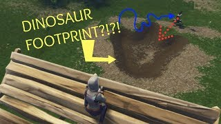 *SECRET* DINOSAUR FOOTPRINT FOUND In Fortnite: Battle Royale!