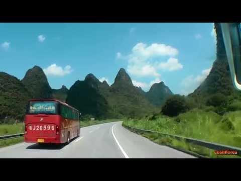 Yangshuo to Guangzhou by bus - Trip to China part 63 - Full HD travel video