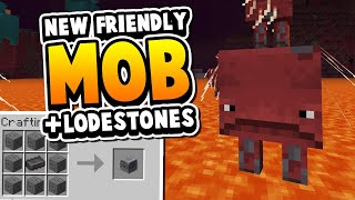 """1.16: Tamable """"Strider"""" Mob & A Unique Use For Netherrite"""