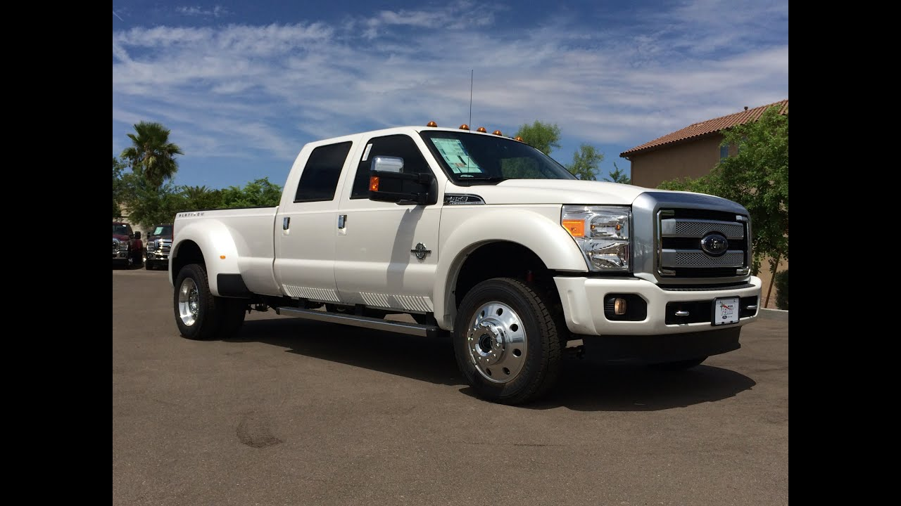 2016 Ford F-450 Platinum 4x4 Walkaround - YouTube