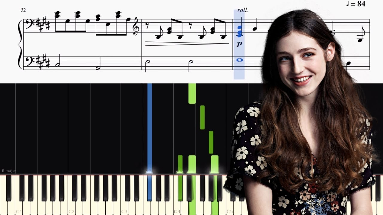 Birdy Skinny Love Bon Iver Piano Tutorial Sheets Youtube