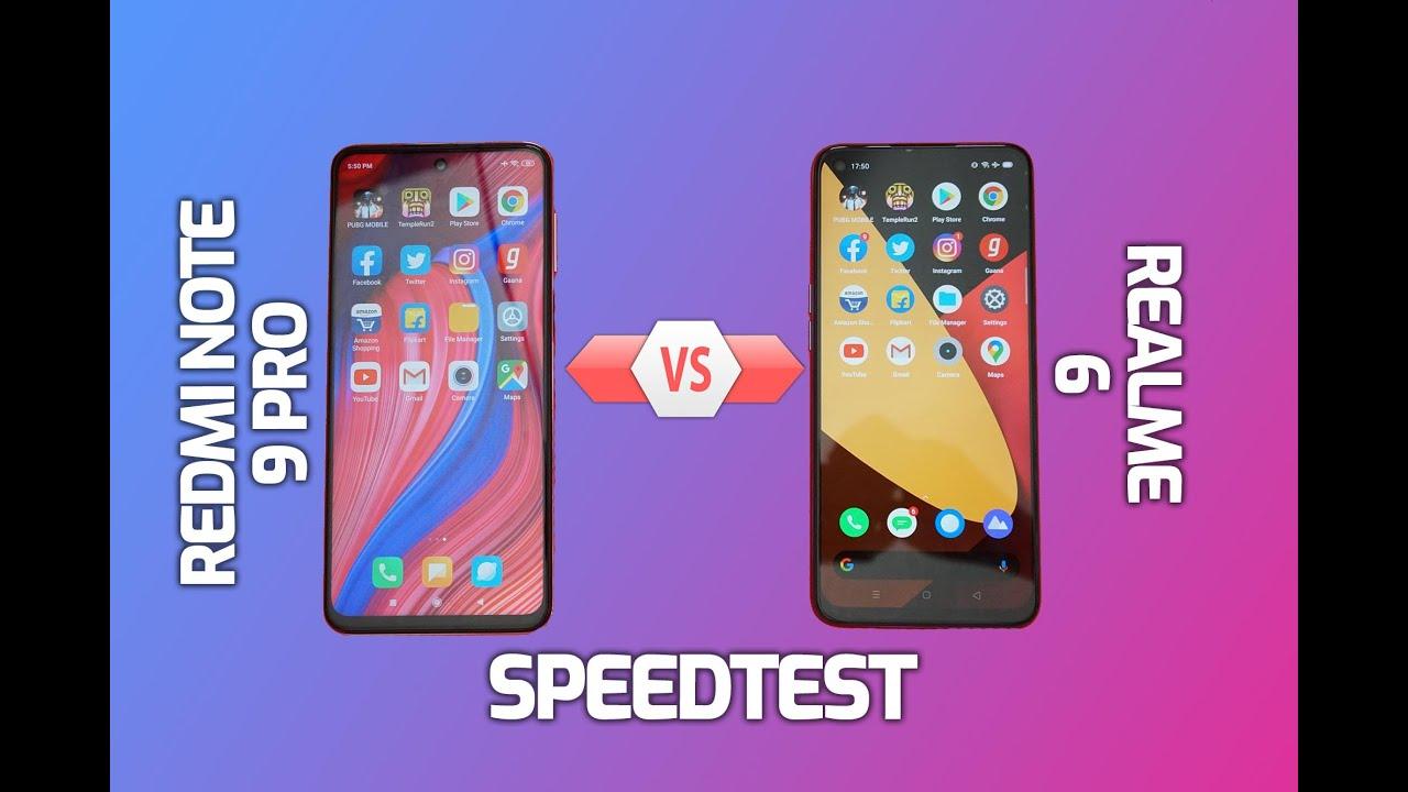 Redmi Note 9 Pro vs Realme 6 Speedtest Comparison, SURPRISE!