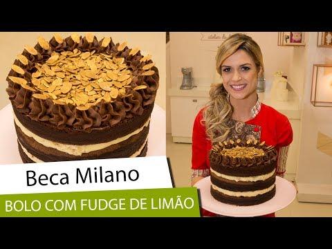 Beca Milano:  Bolo de Chocolate com Fudge de Limão
