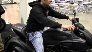 2013 Ducati Diavel Walk Around Sport Cruiser Motorcycle Canon Vixia HF M40 Video Test