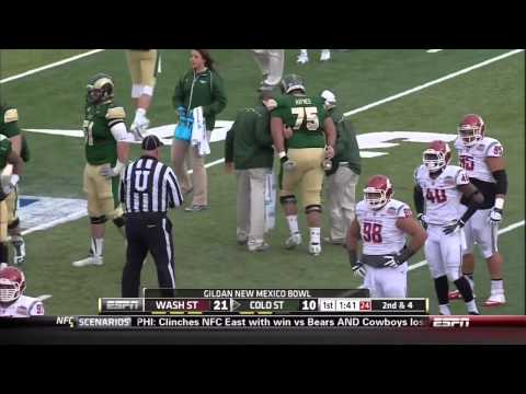 2013 New Mexico Bowl  Colorado State vs  Washington State 1st Half 720p