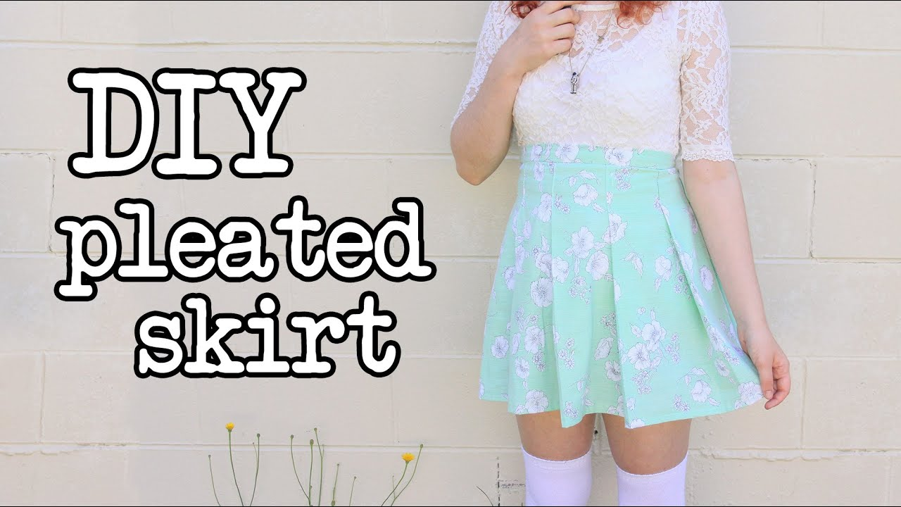 DIY Pleated Skirt Tutorial (like the American Apparel ...
