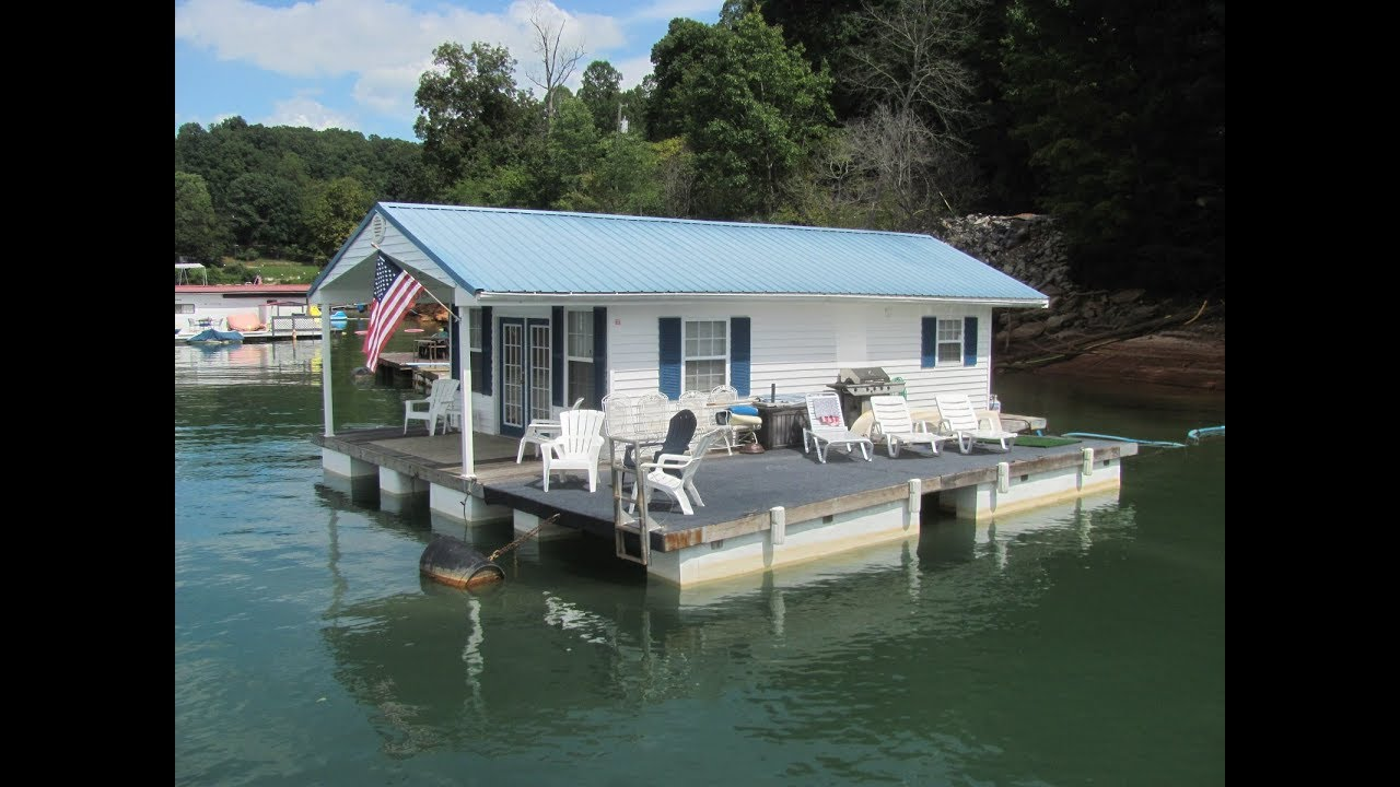 16 X 28 Floating Cottage (608sqft) For Sale On Norris Lake TN   SOLD!