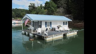 16 x 28 Floating Cottage (608sqft) For Sale on Norris Lake TN - SOLD!