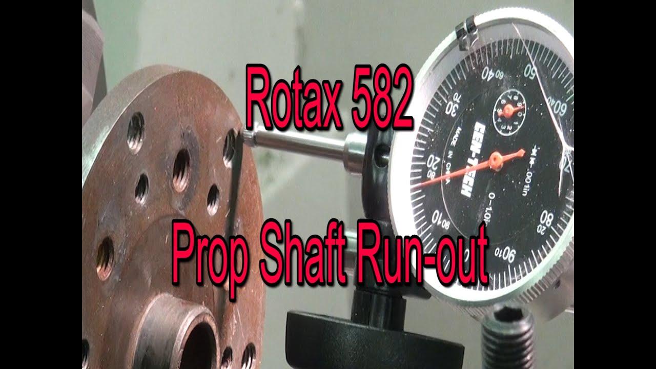 rotax 582 prop strike flange runout check  [ 1280 x 720 Pixel ]