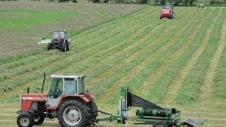 Silage 2014-Moynihan Mowing, Baling and Wraping