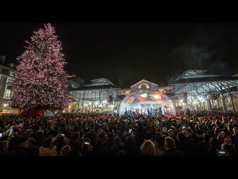 Covent Garden Christmas Lights Switch On 2018 Youtube