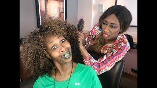 LaLa Braids My Hair - GloZell xoxo