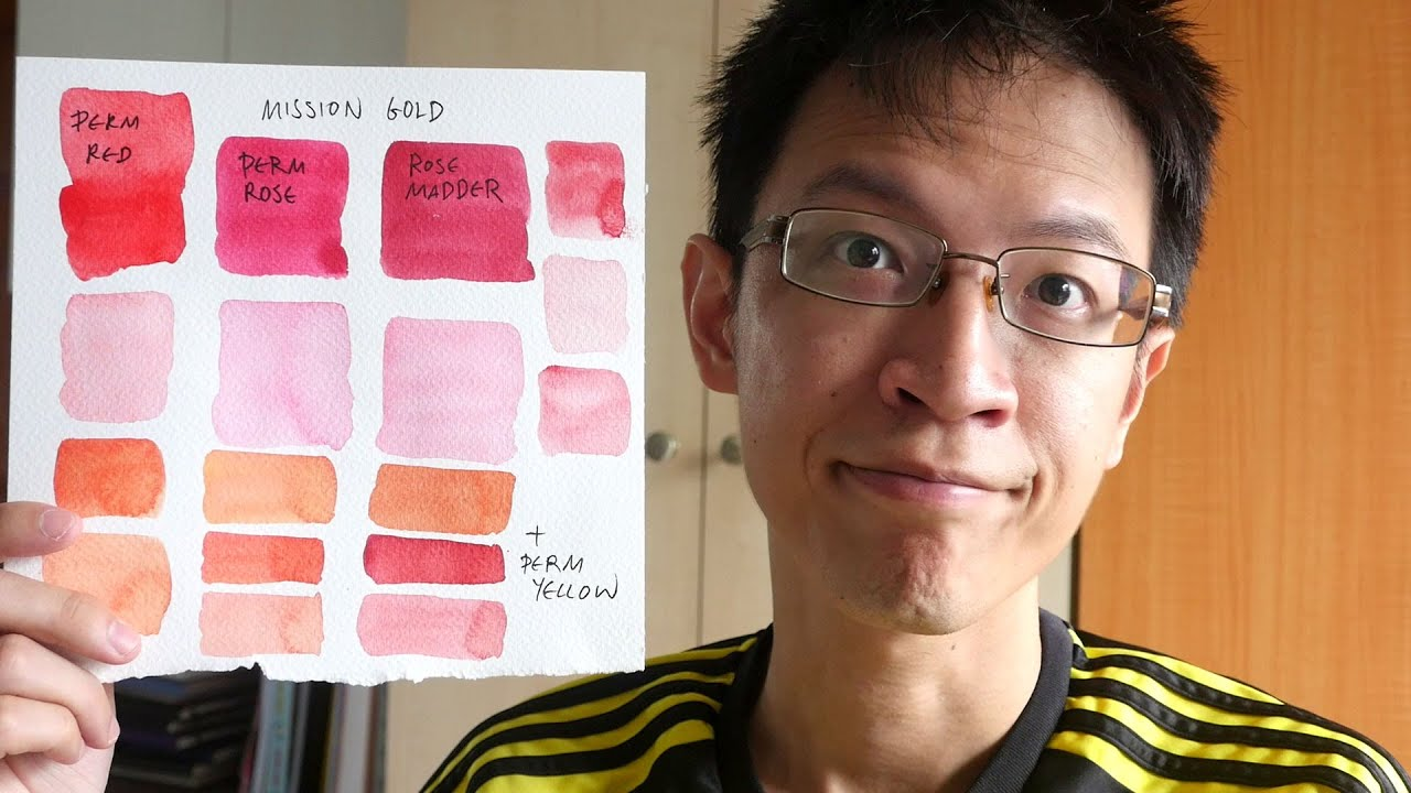 Mixing Pink Swatches With Watercolor