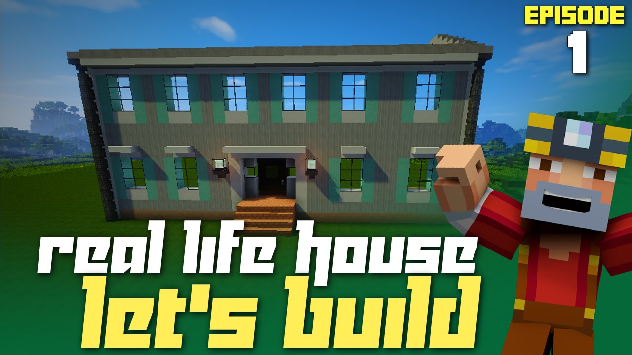 Minecraft Let 39 S Build My Real Life House Part 1 Getting Started Youtube