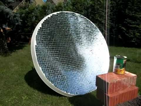 Solarspiegel Wasser Kochen Parabolic Mirror Water Heating