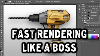 Fast professional Photoshop rendering for Product Design