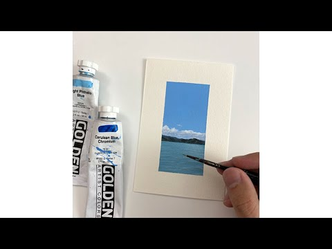 Tropical Painting Tutorial Acrylic Step by Step