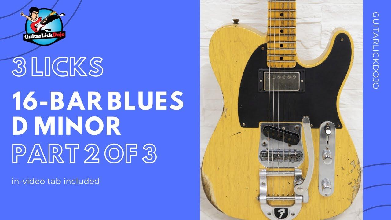 16 Bar Rock Blues in Dm - Part 2 of 3