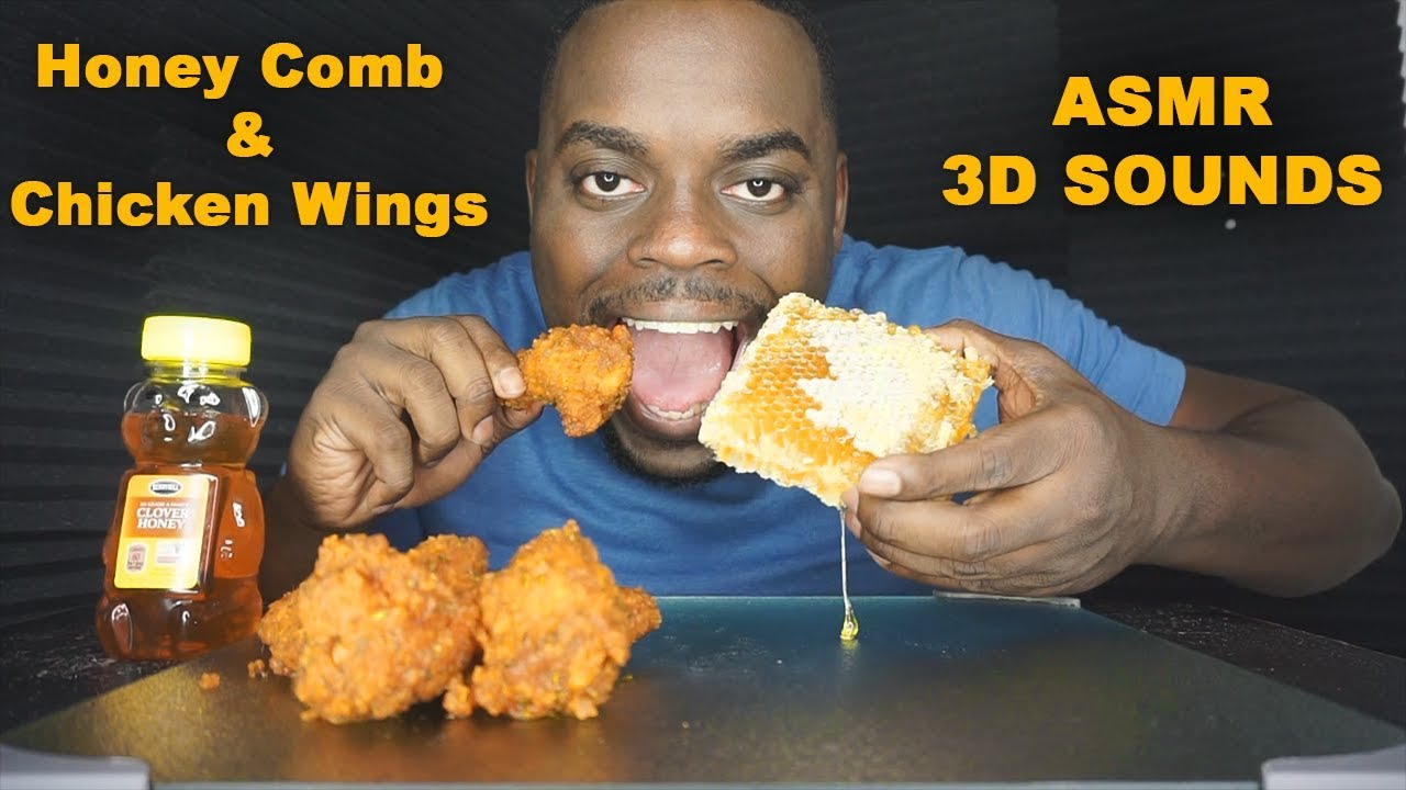 Asmr Eating Honeycomb With Chicken Wings No Talking