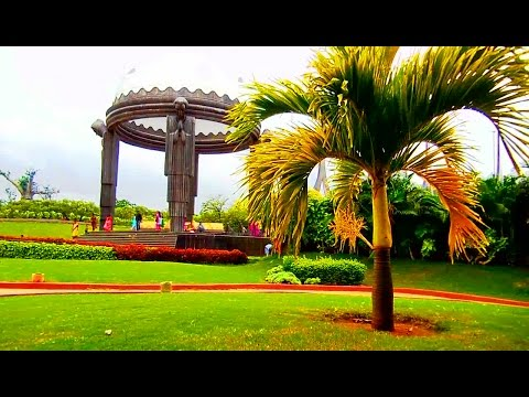 NTR Ghat at Hussain Sagar in Hyderabad, India | HD Video