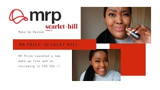 Reviewing Mr Price New Make Up Line Scarlet Hill