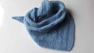 Бактус  (Шейный платок) спицами для начинающих
