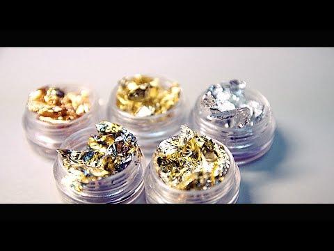 Дизайн ногтей в золотом цвете