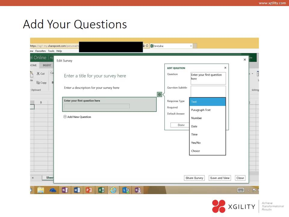 Creating Excel Surveys In Office 365 - Youtube