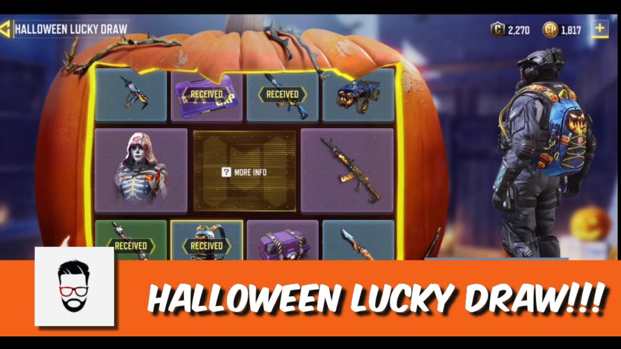 Image result for cod mobile halloween lucky draw
