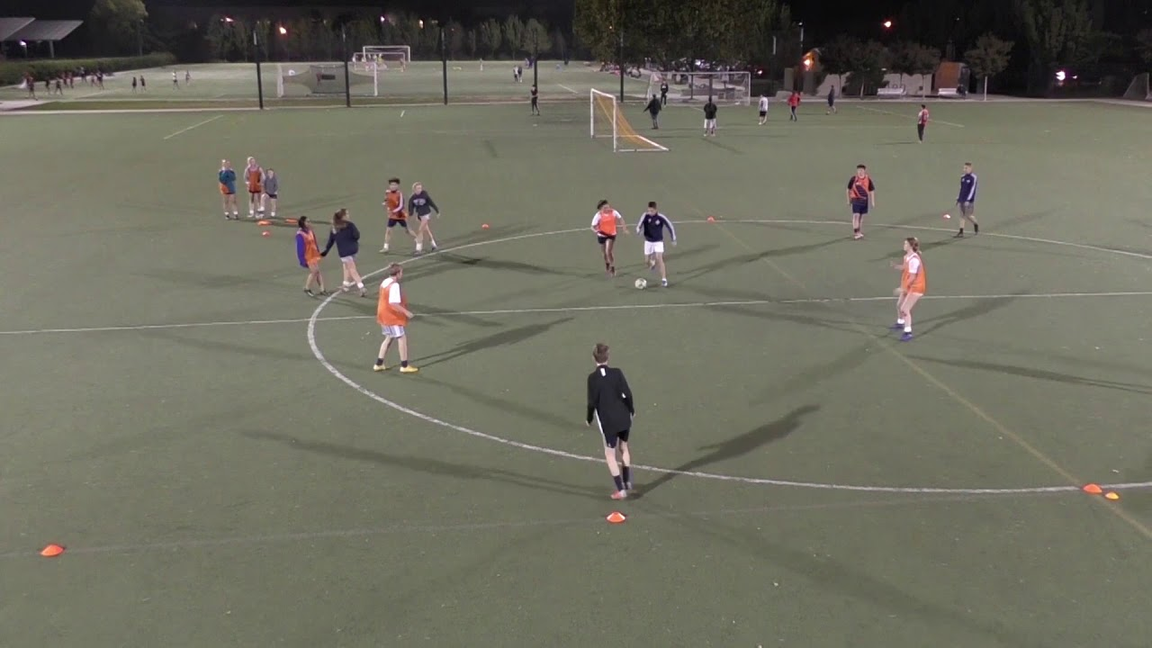 Futsal rotation 2-2 Applied on the Soccer field: developing good football habits.