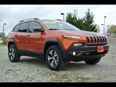 2015 jeep cherokee trailhawk v6 for sale dayton troy piqua sidney ohio 27163t youtube. Black Bedroom Furniture Sets. Home Design Ideas
