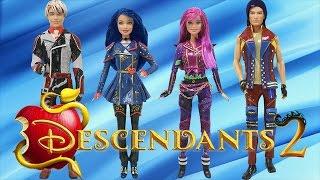 "Play Doh  ""Descendants 2""  Mal Evie Carlos Jay Costumes"