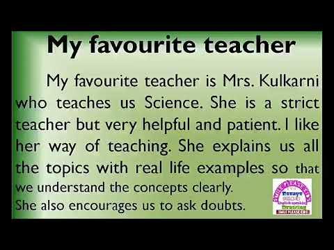 my best teacher essay for class 5