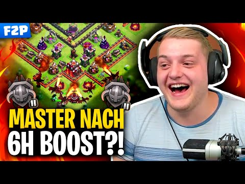 SCHAFFE ich MASTER nach 6h BOOSTEN?! 😳🤔 | Clash of Clans Free2Play