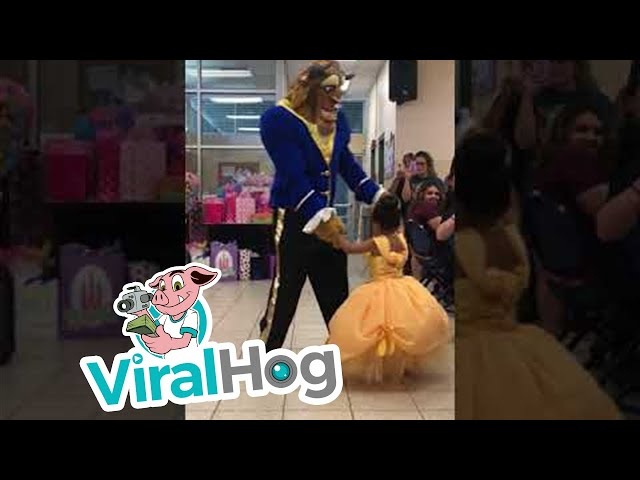 Dad Surprises Birthday Girl with Special Dance || ViralHog