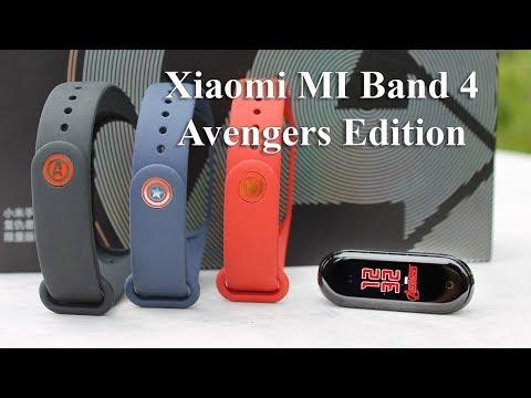 Mi Band 4 Avengers Limited Edition - первый обзор на русском, лимитированная серия фитнес трекера