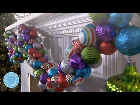 holiday diy colorful ornament garland martha stewart
