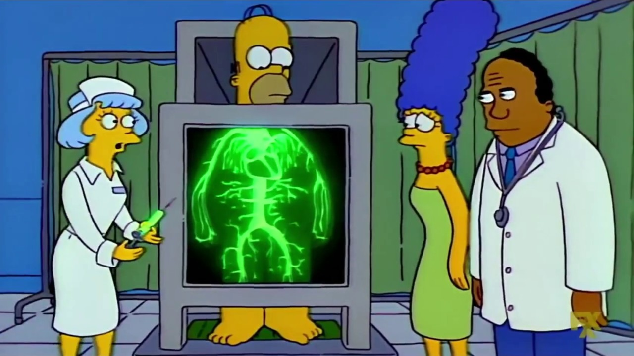 homer u0026 39 s radioactive circulatory system  the simpsons