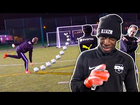 BLACK GOALIE VS MINIMINTER AND MANNY!!!
