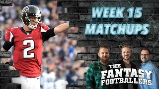 Fantasy Football 2016 - Week 15 Matchups, In-or-Out, Playoff Time! - Ep. #329