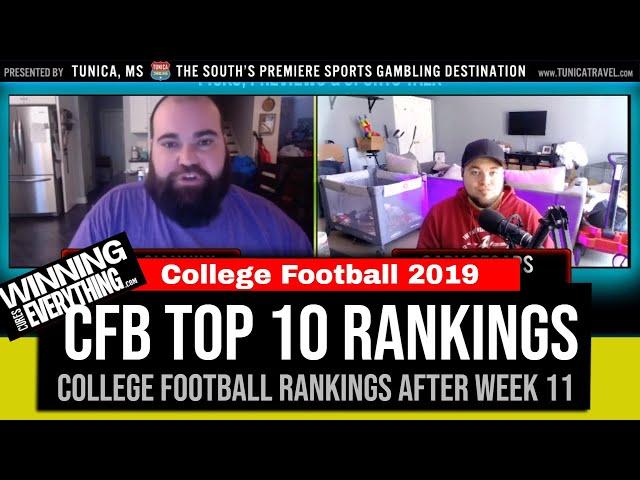 WCE: College Football Top 10 Rankings (after Week 11)