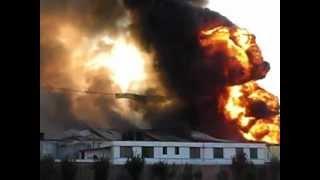 Incendio, Parque Industrial, en fabrica de agroquimicos, Atitalaquia Hgo