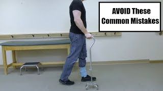 How to Walk Correctly With a Quad Cane (Sizing, Use, and Stairs)