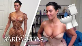 Kim Kardashian's Met Gala Gown Poses No. 1 Problem   KUWTK   E!