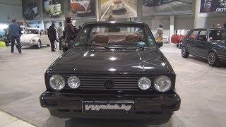 Volkswagen Golf Mk1 1.8 Cabrio Black (1989) Exterior and Interior