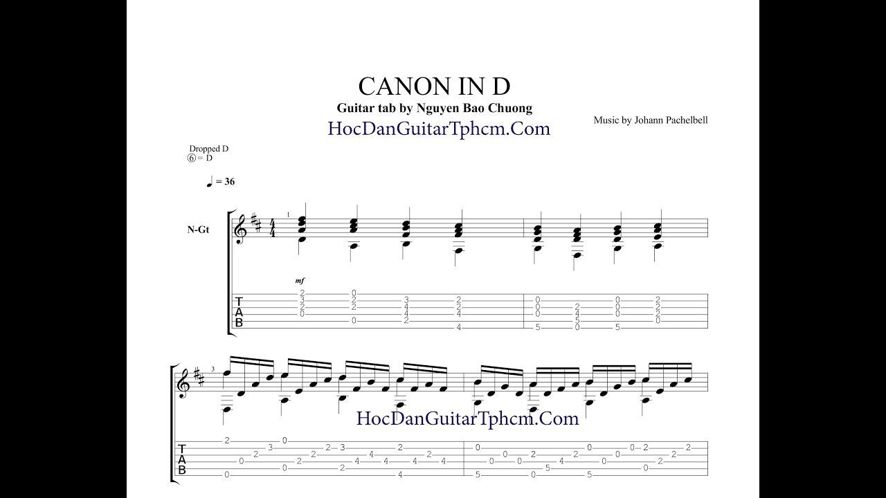 Canon in D   Guitar Tab Chords   Chordify